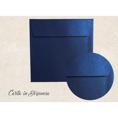Busta PERLATA metallizzata blu notte 17x17