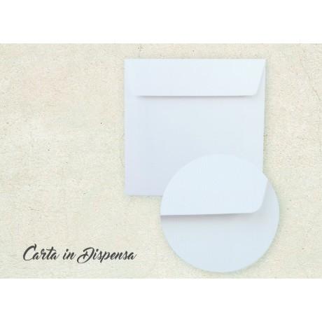 Busta VERGATA bianco brillante 17x17