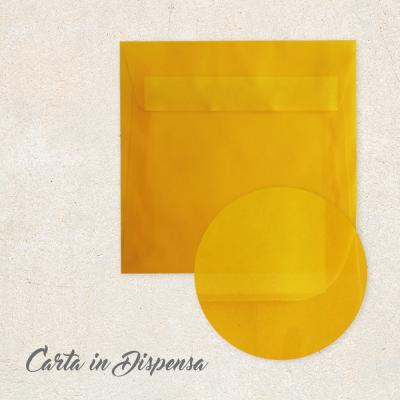 Busta TRASLUCIDA giallo 16x16