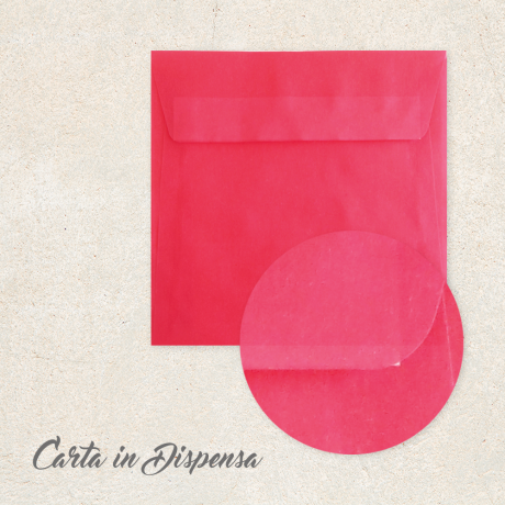 Busta TRASLUCIDA Rosso Fragola 16x16