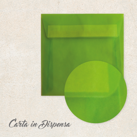Busta TRASLUCIDA Verde Lime 16x16