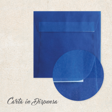Busta TRASLUCIDA blu 16x16