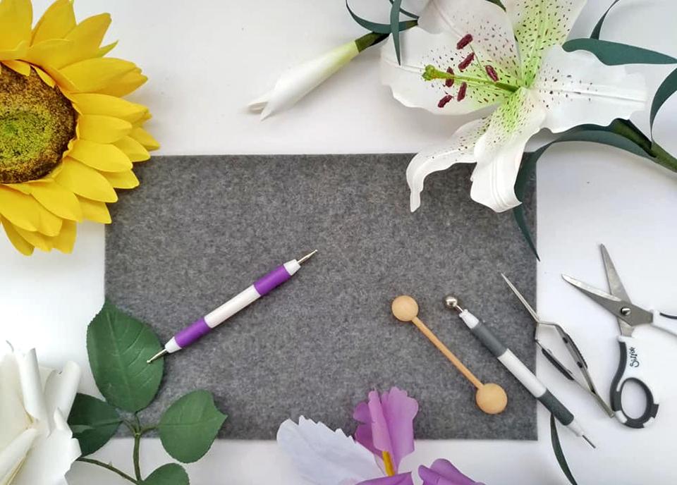 tappetino in feltro omaggio per i kit di carte per i fiori