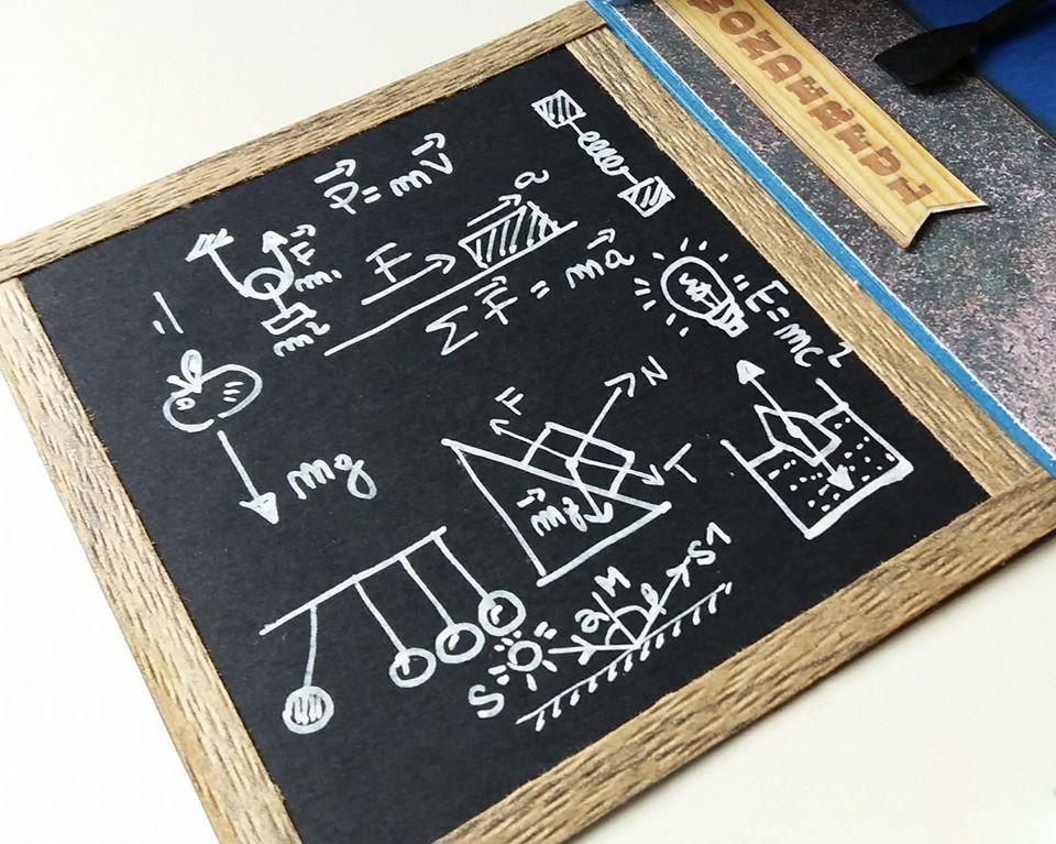 lavagna, dettaglio di explosion box, patrizia fermetti, con carta in dispensa