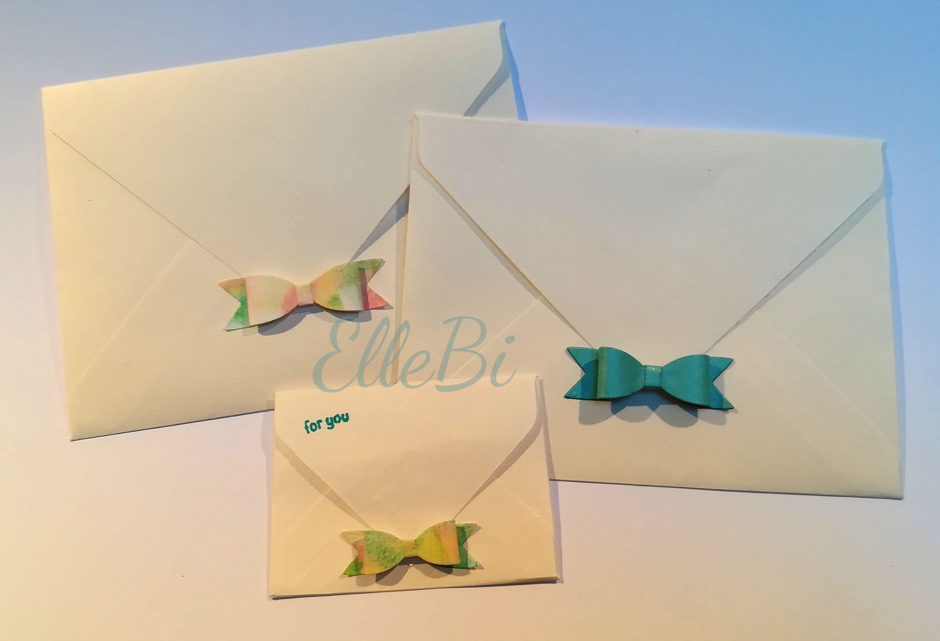 carta telata e fiocco colorato ocn timbini
