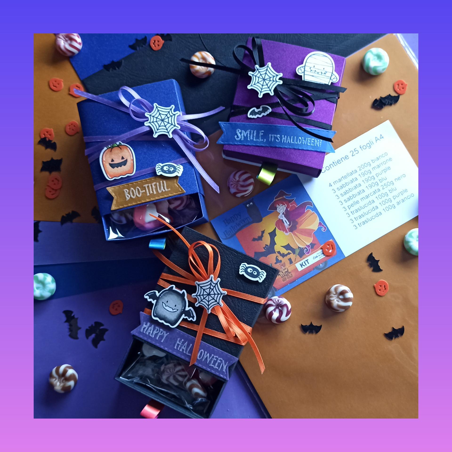 scatoline porta caramelle per halloween