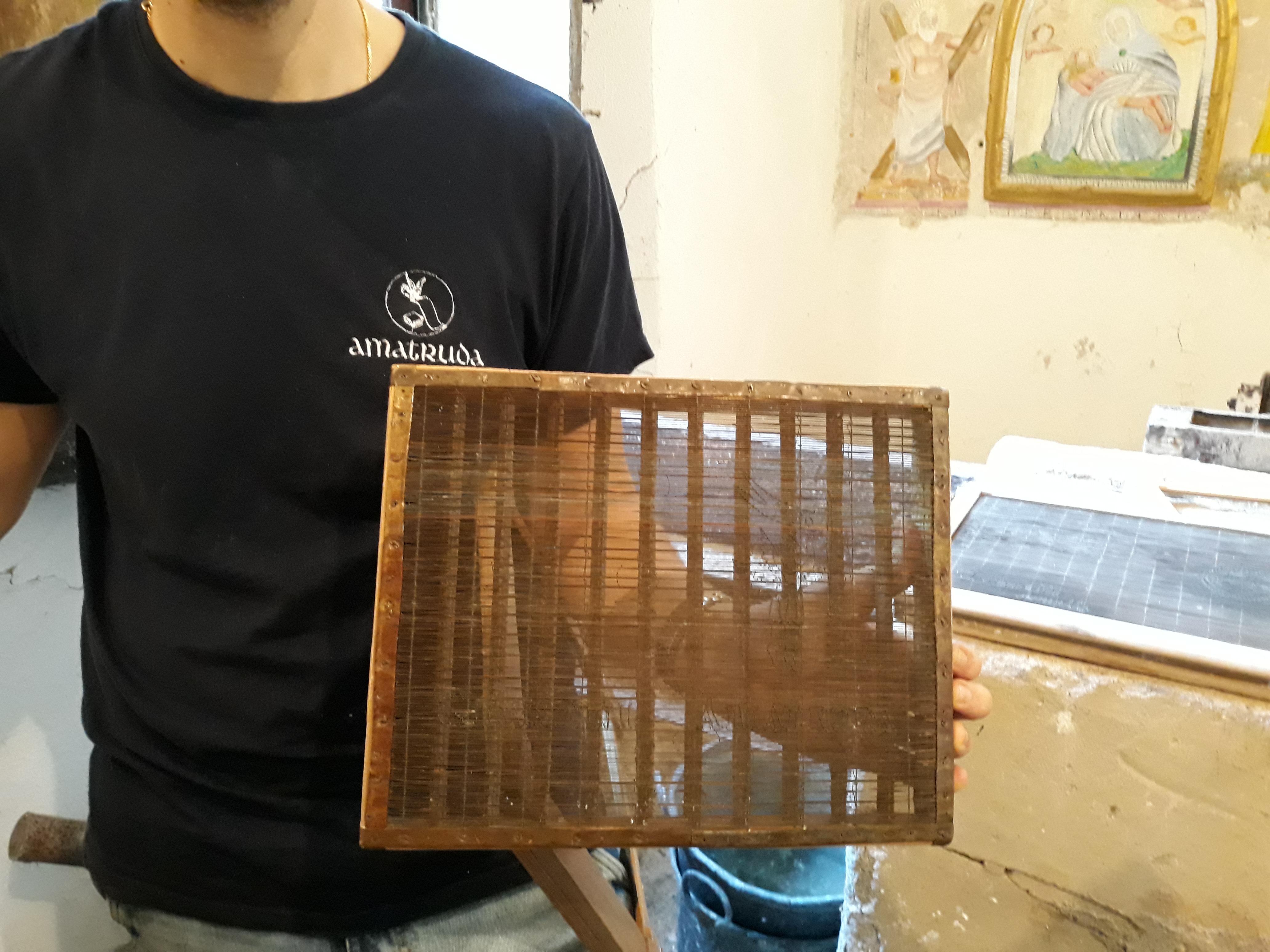 telaio, carta amalfi, con filigrana
