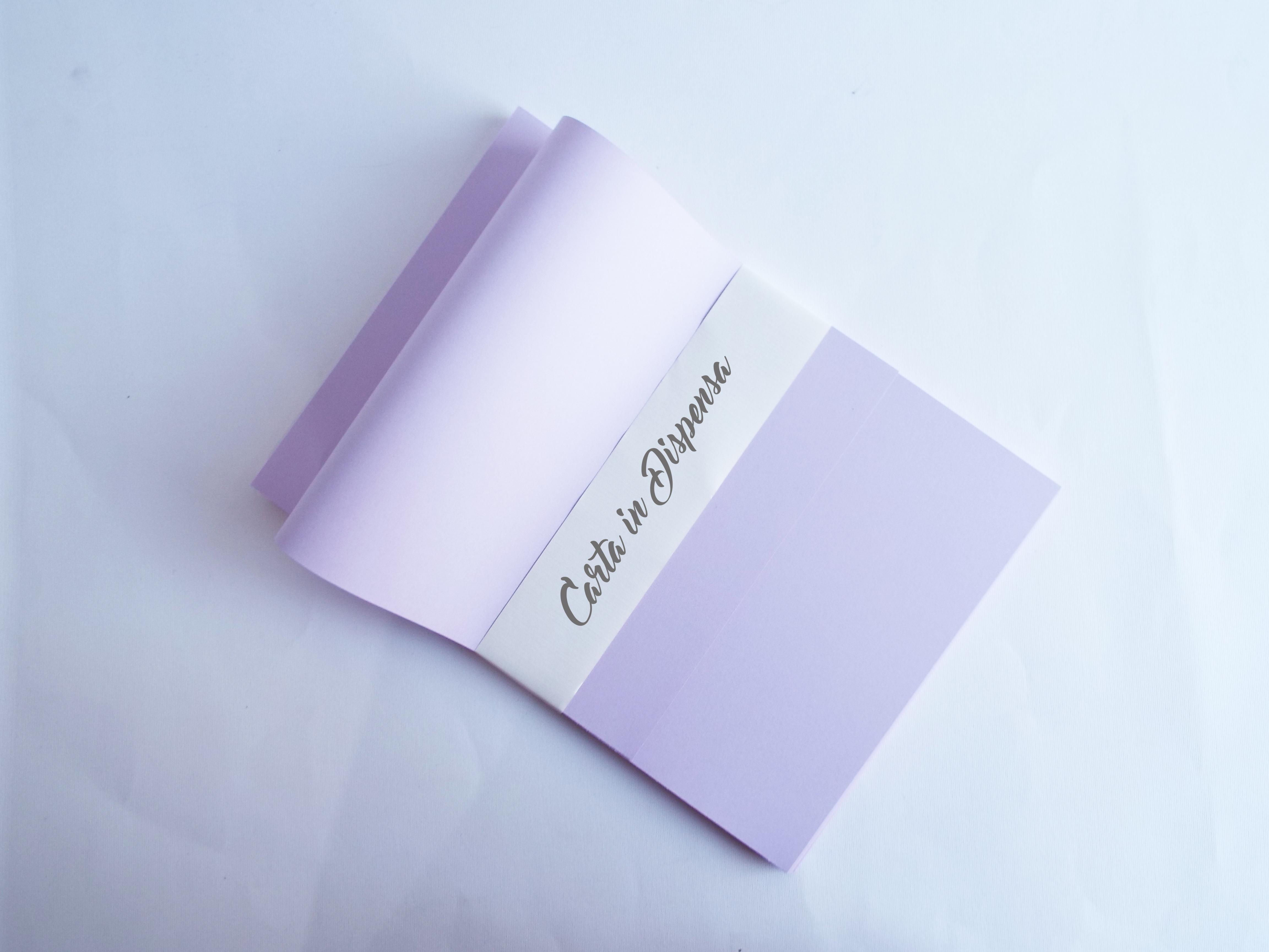 cartoncino inchiostro e laser, 200g a4 e a3, liscio colore viola pastello