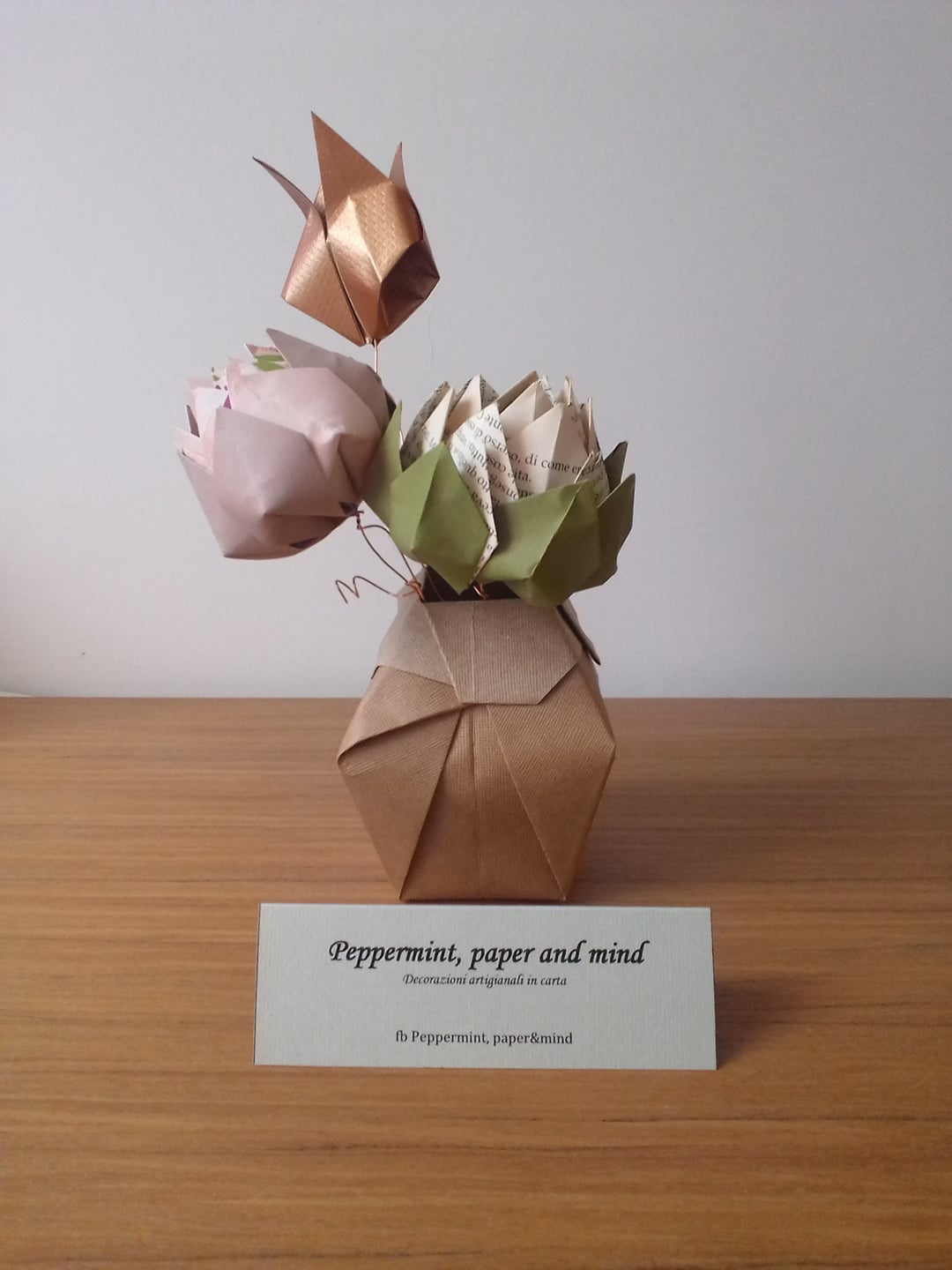 origami con carta in dispensa icma sara de salsi