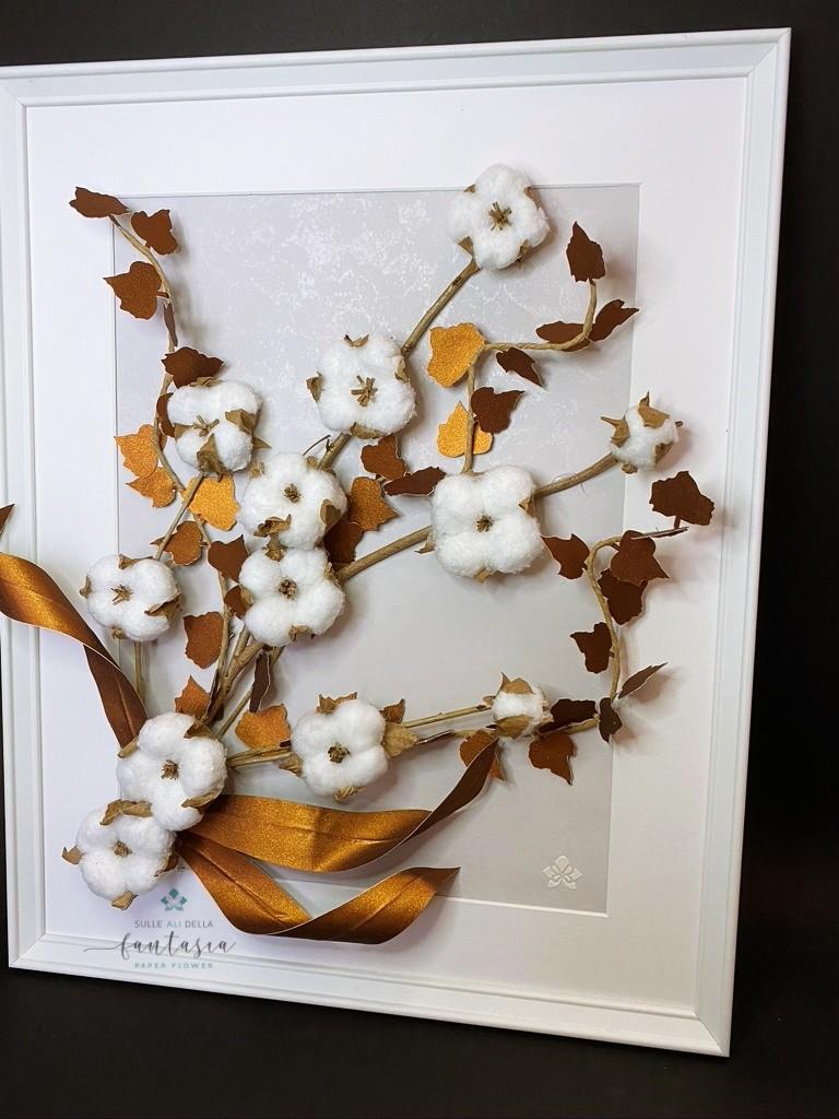 fiori con carta sabbiata brillantini
